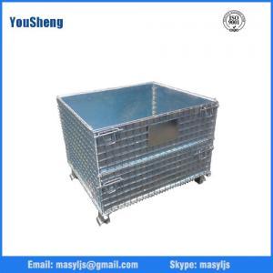 China Heavy duty european galvanized nesting storage wire mesh container on sale
