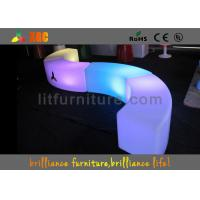 Indoor Colorful Lighting LED Bar Stools PL13 LED Curved Benches For Clubs Manufactures