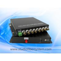 8CH PTZ AHD fiber converter with aluminum case for 8 720P 1080P AHD camera remote surveillance system Manufactures
