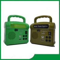 Hot sale 10w mini solar home lighting system, high quality solar lighting kits with radio, phone charger Manufactures