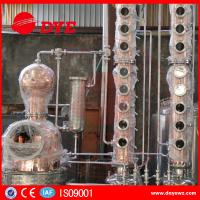 Home Copper Alcohol Still Copper Whiskey Stills Customized 200kg--50000kg Manufactures