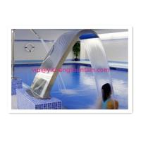 Fully SS Swimming Pool Accessories Waterfall For Massage Human Body Any Sizes Manufactures
