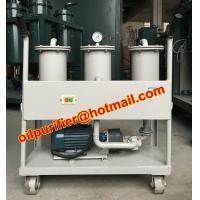 Quality Portable oil Filter Machine, Small Oil Purifier skid, precision filter impurity, for sale