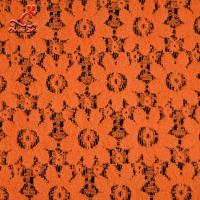 Soft Fancy Burnt Orange Embroidered Lace Fabric For Saree Clothes Manufactures