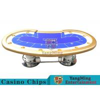 10 Players Casino Poker Table / Custom Poker Tables With Disc Shape Legs Manufactures