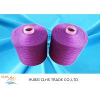 Multi Color Knotless Dyed Polyester Yarn 40 / 2 40 / 3 100% Polyester Spun Yarn For Bedcover Manufactures