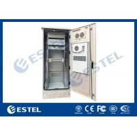 Single Wall Stainless Steel 38U Outdoor Telecom Enclosure 750x700x2000 With DC Air Conditioner Manufactures