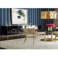 Striped Pattern American Style Wallpaper Waterproof For Living Room , SGS CE Listed Manufactures