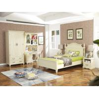 Quality Rubber Wood made Kids/Children/Single white bedroom 1.2/1.4M small bed Space for sale