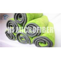 China 80% polyester and 20% polyamide super soft green and high water absorption car cleaning towel wholesale