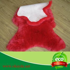 China dyed  long wool sheepskin rugs lambskin rug carpet made in China on sale
