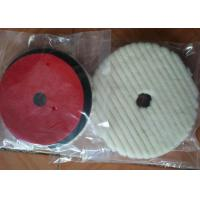 Lamb Sheep Skin Wool Car Polishing Pads With 1cm - 2.5 Cm Sponge Thickness Manufactures