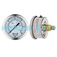 China High Accuracy Glycerin Hydraulic Pressure Gauge Crimp Type With Screw In Connector on sale