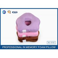 Small Ring Cute Memory Foam Sleep Pillow / Memory Foam Car Seat Cushion Manufactures
