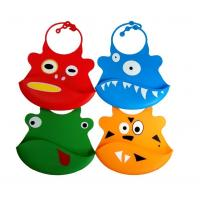 China Silicone baby bibs With a built in crumb catcher and adjustable clasp on sale