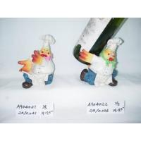 China Polyresin Cock Wine Holder Gift on sale