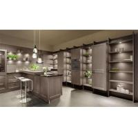 Gray Solid Wood Kitchen Cabinets / Full Kitchen Cabinet Set Adjustable Legs Manufactures