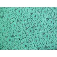 Eco-Friendly Nylon Elastic Lace Fabric Green / Floral Lace Fabric CY-DK0016 Manufactures