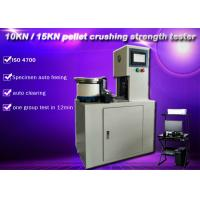 10KN 15KN automatic iron pellet crushing strength testing machine ISO 4700 , specimen auto feeding and clear Manufactures