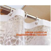 Water-Repellent Fabric Custom Print Shower Curtain Mildew-Resistant Machine Washable White ,Bathroom Bath Textile Fabric