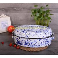 China 15 inch Cast Iron Customized Color Kitchen Cookware Enamel Oval Roaster Pan on sale
