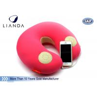 Natural Music Sound Vibrating Massage Neck pillow with speaker , Memory Foam materials Manufactures