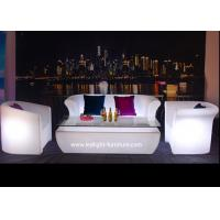 Night club plastic led light furniture glow sofa with rgb for How to change color of furniture