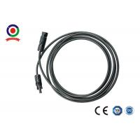 China 30A Flame Retardant 6mm2 DC Solar Junction Cable on sale