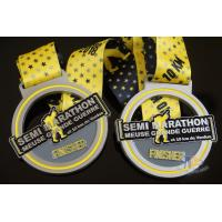 Buy cheap Sports Semi Marathon 10KM Custom Medals, Create a Design Soft Enamel Medallion from wholesalers