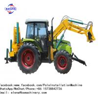 Teardrop Flag Outdoor Pole Erection Machine Tractor Shovel Drilling With Crane Manufactures