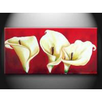 Realistic Customized Landscape Paint Handmade Oil Painting with Flower hhd1010 Manufactures