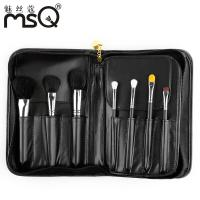 Black Cosmetic Synthetic 15 Piece Brush Set Goat Hair Brushing Manufactures