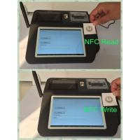 Swipe Card Wireless POS Terminal , 7inch Color TFT LCD Touch Screen POS System Manufactures