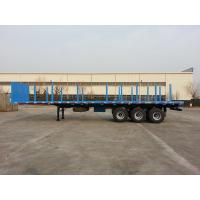 40 Foot Flatbed Semi Trailer / Platform Semi Trailer For Cargos And Containers Manufactures