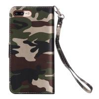 Camouflage IPhone Leather Wallet Case For Iphone 7 Plus Crazy Horse 64g Manufactures