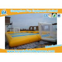 China Waterproof 0.9mm PVC Inflatable Sports Field , Inflatable Football Pitch on sale