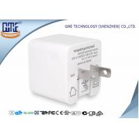 White Single Port Foldable US PIN Usb Travel Adaptor 5V 2.4A High Efficiency Manufactures