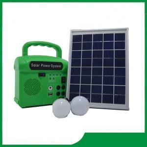 Mini solar energy lighting kits, solar power portable electricity generator 6V / 7AH 10w for home lighting Manufactures