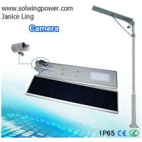 20W Integrated Solar Street Light with Camera -Sunpower solar cell IP65 Manufactures