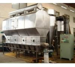 High Efficiency Horizontal Fluid Bed Dryer Machine Adjustable Temperature Manufactures