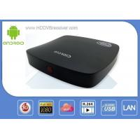 Black 2GB DDR3 Android Smart IPTV Box 16GB Nand - Flash  RoHs Manufactures