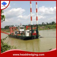 China customized hydraulic cutter suction dredger for sand, mud dredging on sale