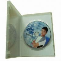 CD/DVD disc replication with clear plastic DVD case, cellophane packaging Manufactures