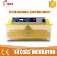 2016 top selling 1 Year warranty CE passes Automatic 48 chicken egg 132 quail bird mini egg incubator   for sale YZ8-48 Manufactures