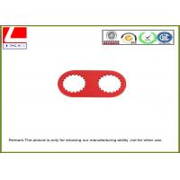 high precision machining parts made of aluminum with red anodization. Manufactures