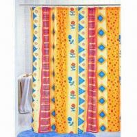 Elegant design fabric shower curtain, various sizes are available Manufactures