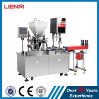 China Small cosmetic filling machine capping machine air cleaning machine for plastic bottle, glass bottle on sale