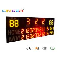 Outside UV Protection 12 / 20 Inch LED Electronic Baseball Scoreboard in Yellow and Red Color Manufactures