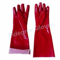 Long Sleeve PVC Household Gloves With Smooth Surface For Dish Washing Manufactures