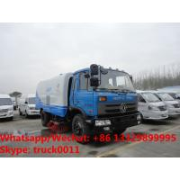 2019s cheapest price dongfeng RHD 170hp diesel 8-10tons road sweeping vehicle for sale, street sweeper cleaning  truck Manufactures